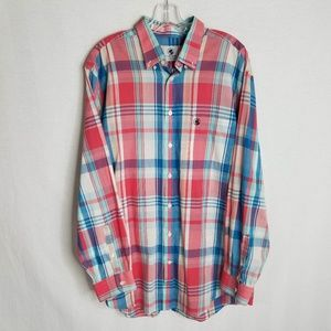 Southern Proper Mens Button Front Plaid Shirt